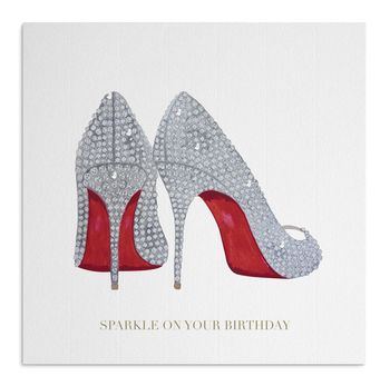 Crystal Shoes Birthday Card
