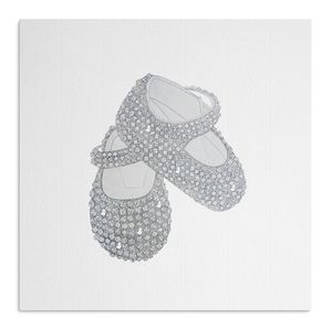 Crystal Bootees With Swarovski Crystals