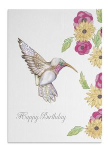 Jewelled Hummingbird Card