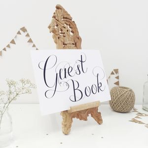 Wedding Guest Book Sign - outdoor decorations