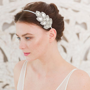Crystal Leaf Headband Or Comb - tiaras & hair combs
