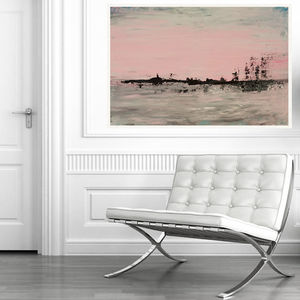 Abstract Landscape Original Acrylic Painting - whatsnew