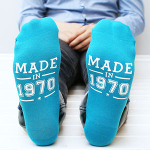Personalised Year Of Birth Men's Socks - winter sale