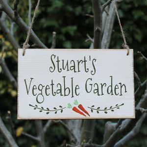 Personalised Vegetable Garden Handmade Sign