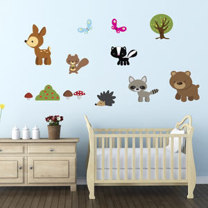Woodland Animals Fabric Wall Stickers - wall stickers