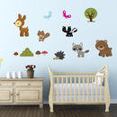 Woodland Animals Fabric Wall Stickers