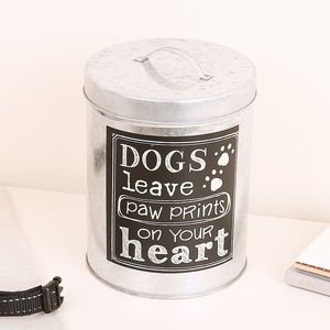 Dog Paws Treat Tin