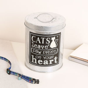 Cat Paws Treat Tin - food, feeding & treats