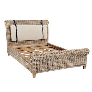 Washed Rattan Bed