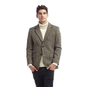 Mens Harris Tweed Jacket - men's fashion