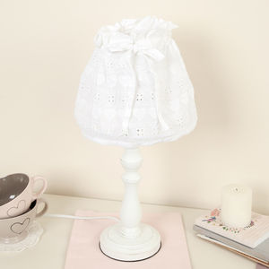 Esme Table Lamp With Embroidered Cotton Shade