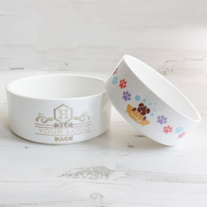 Personalised Corporate Logo Business Pet Bowl - bowls & mats