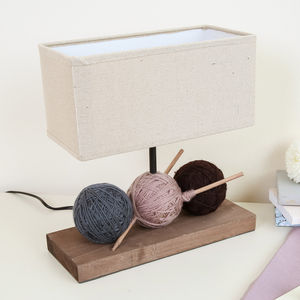 Balls Of Wool Rectangular Table Lamp With Shade - living & decorating
