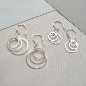 Sterling Silver Circle Earrings - women's jewellery