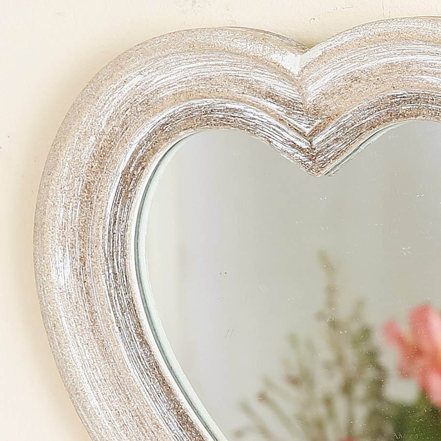 decorative heart shaped wall mirror by dibor