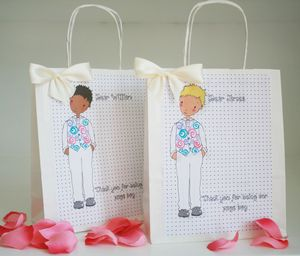 Page Boy Personalised Gift Bag - ribbon & wrap