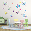 Girls Butterflies And Bugs Wall Stickers