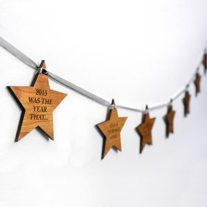 Personalised 'Our Year' Star Garland