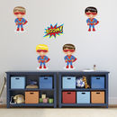 Boys Superheroes Boom Wall Stickers