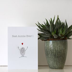 Best Ever Auntie Card - thank you cards