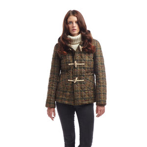 Womens Richmond Quilted Tweed Duffle
