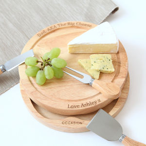 Personalised Cheese Board Set - gifts for him sale