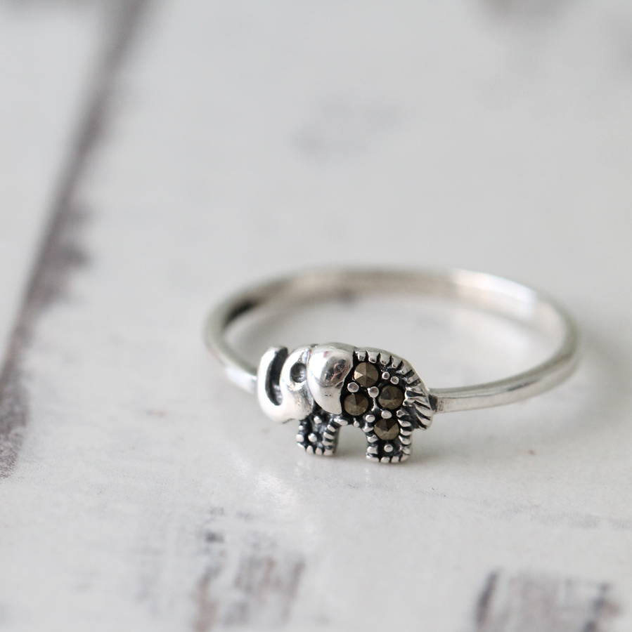 Sterling Silver Little Elephant Ring By Attic