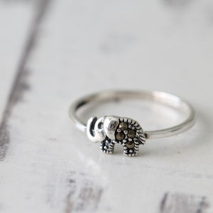 Sterling Silver Little Elephant Ring - women's jewellery