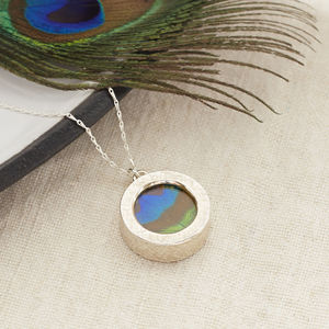 Peacock Feather Locket