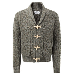 Men's Toggle Cardigan - men's fashion