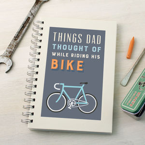 Personalised Bike Ideas Notebook - writing