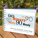Personalised Mens 90th Birthday Guest Book