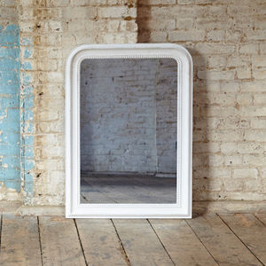 Wilton Grammercy Beaded White Mirror - living room