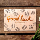 Good Luck! Copper Foil Card
