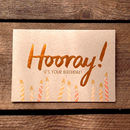 Hooray! Copper Birthday Card