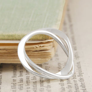Curve Infinity Solid Silver Ring - women's jewellery