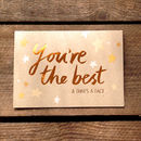 You're The Best! Copper Card