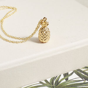 Pineapple Charm Necklace - women's