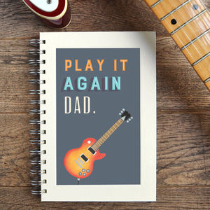 Personalised Play It Again Music Notebook - music