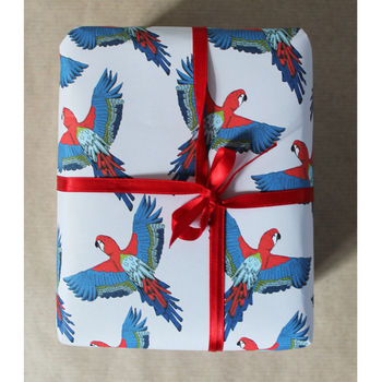Luxury parrot wrapping paper