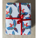 Luxury Tropical Parrot Gift Wrap