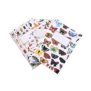 Birds, Bugs And Butterflies Notebook Set