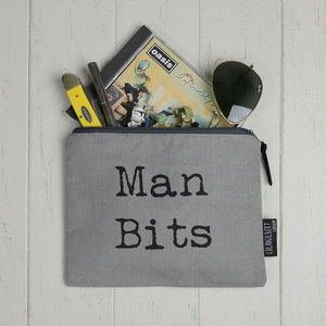 'Man Bits' Canvas Bag - wash & toiletry bags