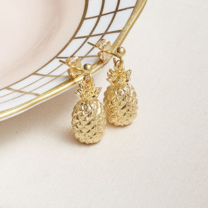 Pineapple Charm Earrings