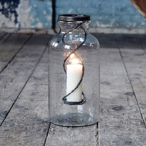 Kelburn Large Glass Candle Jar