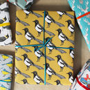 Luxury Yellow Magpie Gift Wrap