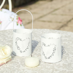 Set Of Two Heart Centrepiece Tealight Holders - home accessories