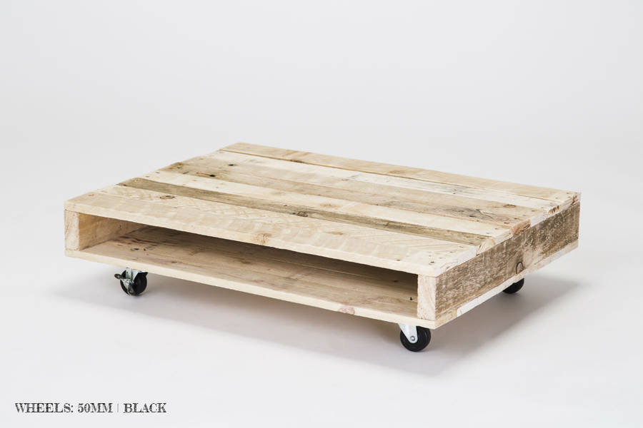 39 on wheels 39 small wood coffee table by gas air studios for Small wood coffee table