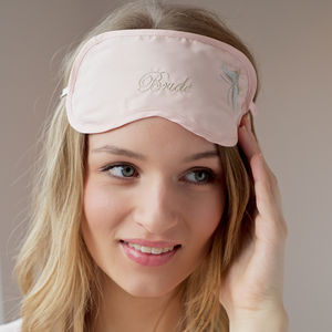 Butterfly Eye Mask - the morning of the big day