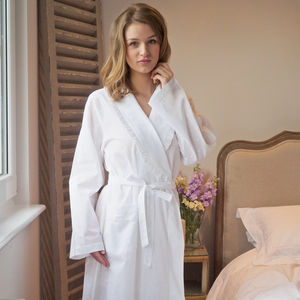 Polka Dot Cotton Dressing Gown - wedding fashion
